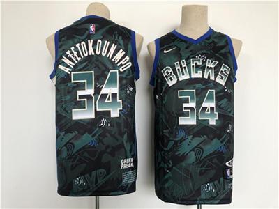 Men's Milwaukee Bucks #34 Giannis Antetokounmpo Stitched Basketball Jersey