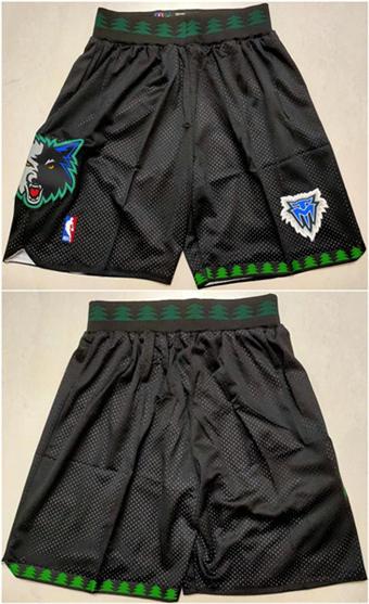 Men's Minnesota Timberwolves Black Basketball Shorts (Run Small)