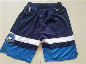 Men's Minnesota Timberwolves  Navy Blue Icon Swingman Basketball Shorts