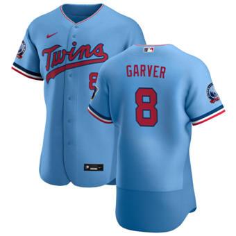 Men's Minnesota Twins #8 Mitch Garver Light Blue Alternate 2020 60th Season Authentic Team Baseball Jersey
