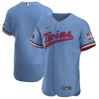 Men's Minnesota Twins 2020 Light Blue Alternate Authentic Team Baseball Jersey