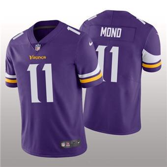 Men's Minnesota Vikings #11 Kellen Mond Purple 2021 Vapor Untouchable Limited Stitched Football Jersey