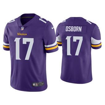 Men's Minnesota Vikings #17 K.J. Osborn Purple Vapor Untouchable Limited Stitched Jersey