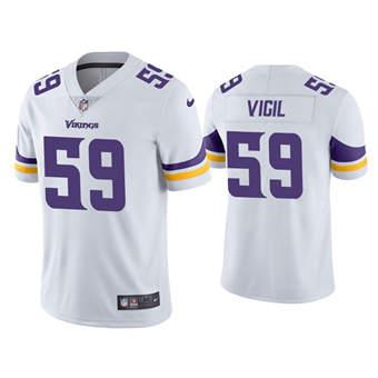 Men's Minnesota Vikings #59 Nick Vigil White Vapor Untouchable Limited Stitched Jersey