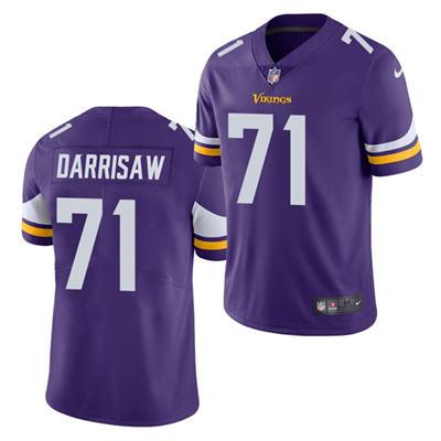 Men's Minnesota Vikings #71 Christian Darrisaw Purple 2021 Vapor Untouchable Limited Stitched Football Jersey