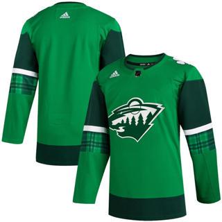 Men's Minnesota Wild Blank 2020 St. Patrick's Day Stitched Hockey Jersey Green