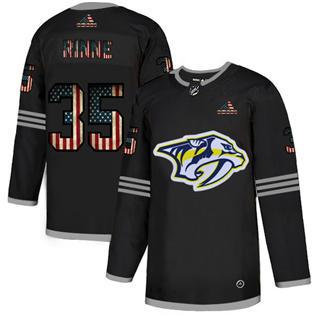 Men's Nashville Predators #35 Pekka Rinne Black USA Flag Limited Hockey Jersey
