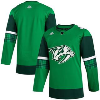 Men's Nashville Predators Blank 2020 St. Patrick's Day Stitched Hockey Jersey Green