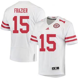 Men's Nebraska Cornhuskers #15 Tommie Frazier Jersey White NCAA