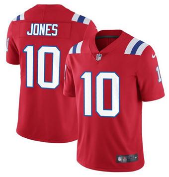 Men's New England Patriots #10 Mac Jones 2021 Red Vapor Untouchable Limited Stitched Football Jersey