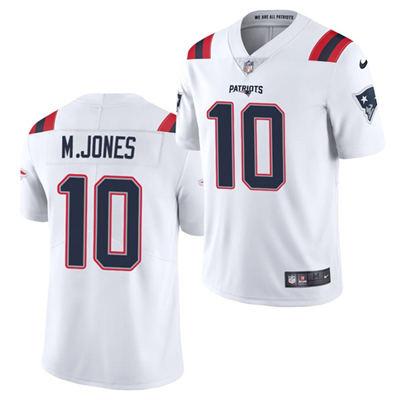 Men's New England Patriots #10 Mac Jones White 2021 Vapor Untouchable Limited Stitched Football Jersey