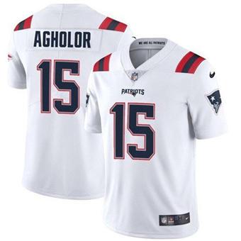Men's New England Patriots #15 Nelson Agholor 2021 White Vapor Untouchable Limited Stitched Jersey