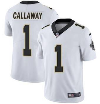 Men's New Orleans Saints #1 Marquez Callaway White 2021 Vapor Untouchable Limited Stitched Football Jersey