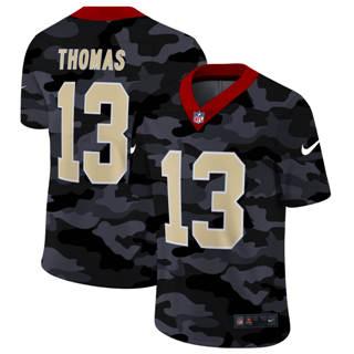 Men's New Orleans Saints #13 Michael Thomas 2020 Black CAMO Vapor Untouchable Limited Stitched Football Jersey
