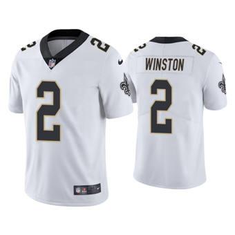 Men's New Orleans Saints #2 Jameis Winston White Vapor Untouchable Limited Stitched Football Jersey