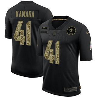 Men's New Orleans Saints #41 Alvin Kamara 2020 Salute To Service Black Camo Limited Football Jersey