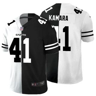Men's New Orleans Saints #41 Alvin Kamara Black V White Peace Split Vapor Untouchable Limited Football Jersey