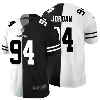 Men's New Orleans Saints #94 Cameron Jordan Black V White Peace Split Vapor Untouchable Limited Football Jersey