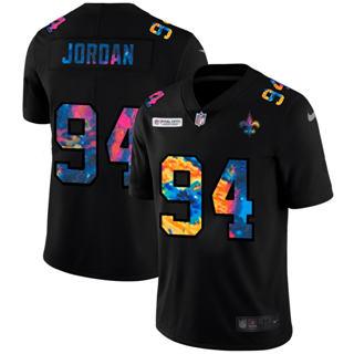 Men's New Orleans Saints #94 Cameron Jordan Multi-Color Black 2020 Football Crucial Catch Vapor Untouchable Limited Jersey