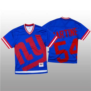 Men's New York Giants #54 Blake Martinez Blue Mitchell & Nell Big Face Fashion Limited Football Jersey