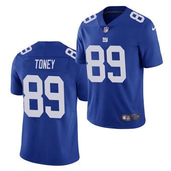 Men's New York Giants #89 Kadarius Toney Blue Vapor Untouchable Limited Stitched Jersey
