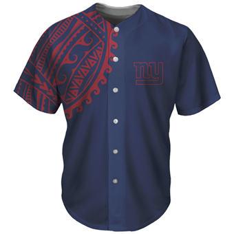 Men's New York Giants Navy Baseball Jersey