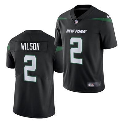 Men's New York Jets #2 Zach Wilson 2021 Black Vapor Untouchable Limited Stitched Football Jersey