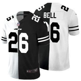 Men's New York Jets #26 Le'Veon Bell Black V White Peace Split Vapor Untouchable Limited Football Jersey