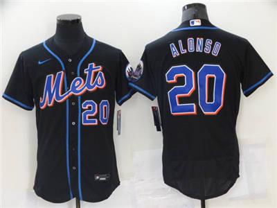 Men's New York Mets #20 Pete Alonso Black Flex Base Stitched Baseball Jersey