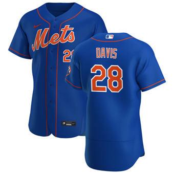 Men's New York Mets #28 J.D. Davis Royal Alternate 2020 Authentic Player Baseball Jersey