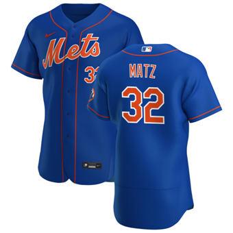 Men's New York Mets #32 Steven Matz Royal Alternate 2020 Authentic Player Baseball Jersey