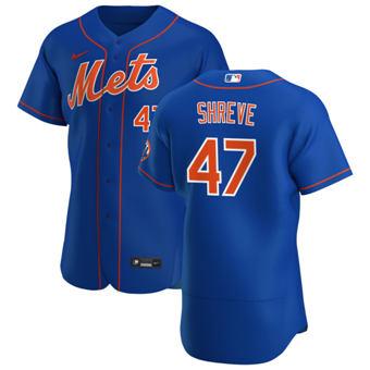 Men's New York Mets #47 Chasen Shreve Royal Alternate 2020 Authentic Player Baseball Jersey