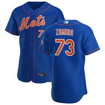 Men's New York Mets #73 Daniel Zamora Royal Alternate 2020 Authentic Player Baseball Jersey