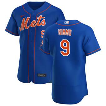 Men's New York Mets #9 Brandon Nimmo Royal Alternate 2020 Authentic Player Baseball Jersey