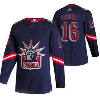 Men's New York Rangers #16 Ryan Strome Navy 2020-21 Reverse Retro Alternate Hockey Jersey