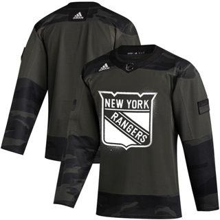 Men's New York Rangers 2019 Veterans Day Authentic Practice Hockey Jersey Camo