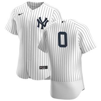 Men's New York Yankees #0 Adam Ottavino White Navy Home 2020 Authentic Player Baseball Jersey