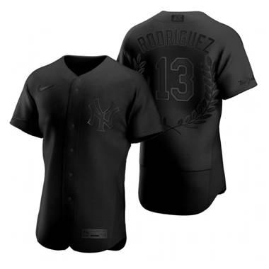 Men's New York Yankees #13 Alex Rodriguez Black Baseball MVP Limited Player Edition Jersey