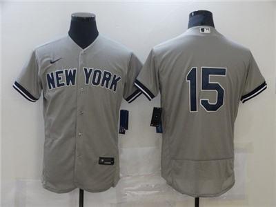 Men's New York Yankees #15 Thurman Munson Grey Flex Base Stitched Baseball Jersey