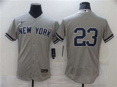 Men's New York Yankees #23 Don Mattingly Grey Flex Base Stitched Baseball Jersey