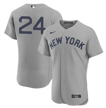 Men's New York Yankees #24 Gary Sanchez 2021 Gray Field Of Dreams Flex Base Stitched Baseball Jersey