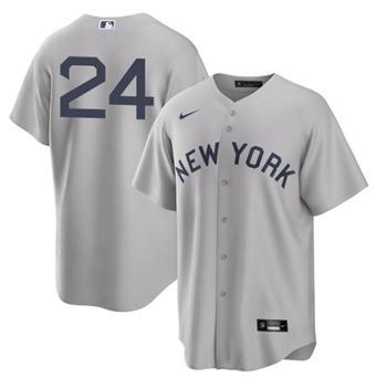 Men's New York Yankees #24 Gary Sanchez 2021 Gray Field of Dreams Cool Base Stitched Baseball Jersey