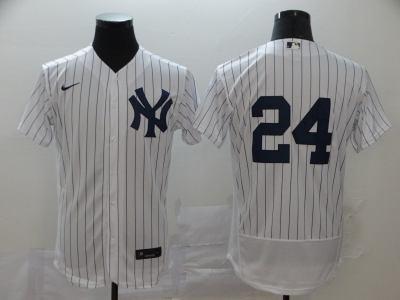 Men's New York Yankees #24 Gary Sanchez White Navy Home 2020 Authentic Player Baseball Jersey