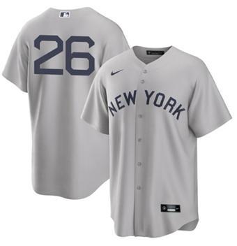 Men's New York Yankees #26 DJ LeMahieu 2021 Gray Field of Dreams Cool Base Stitched Baseball Jersey