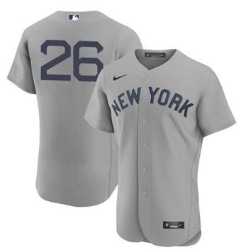 Men's New York Yankees #26 DJ LeMahieu 2021 Gray Field of Dreams Flex Base Stitched Baseball Jersey