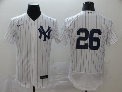 Men's New York Yankees #26 DJ LeMahieu White Navy Home 2020 Authentic Player Baseball Jersey