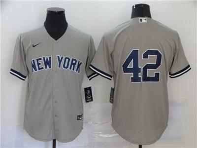 Men's New York Yankees #42 Mariano Rivera Gray 2020 Baseball Cool Base Jersey