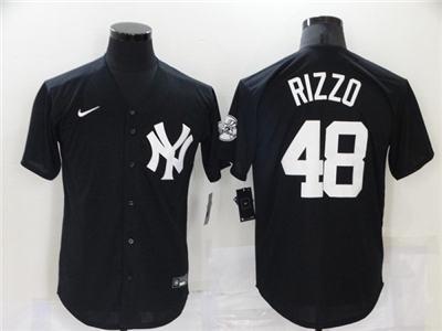 Men's New York Yankees #48 Anthony Rizzo 2021 Black Cool Base Stitched Baseball Jersey