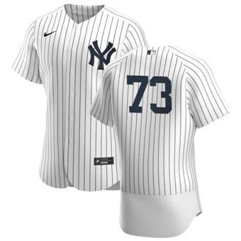 Men's New York Yankees #73 Michael King White Navy Home 2020 Authentic Player Baseball Jersey