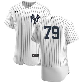 Men's New York Yankees #79 Nick Nelson White Navy Home 2020 Authentic Player Baseball Jersey
